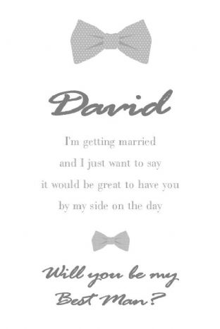 Will you be my Best Man Card Design 5